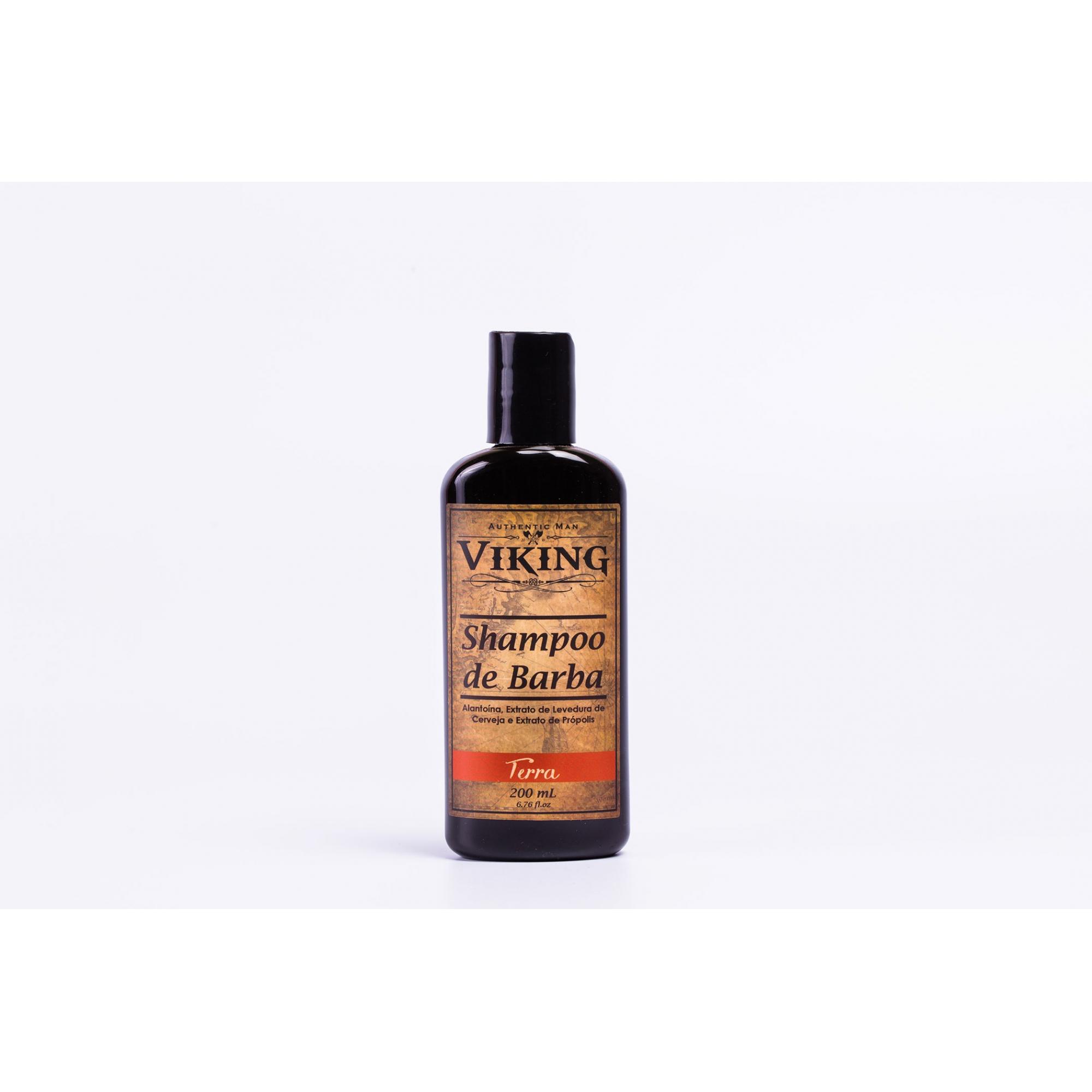 Shampoo Para Barba Viking Terra - 200ml