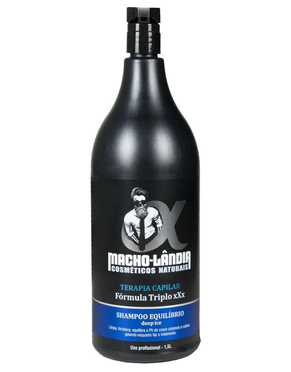 Shampoo Profissional Macho-Lândia Deep Ice - Fórmula Triplo xXx 1,5L