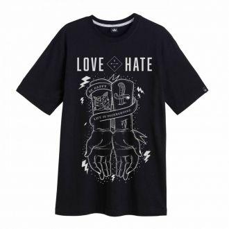 Camiseta Hoshwear Love Hate Preta