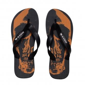 Chinelo Unissex Hoshwear Skull Orange