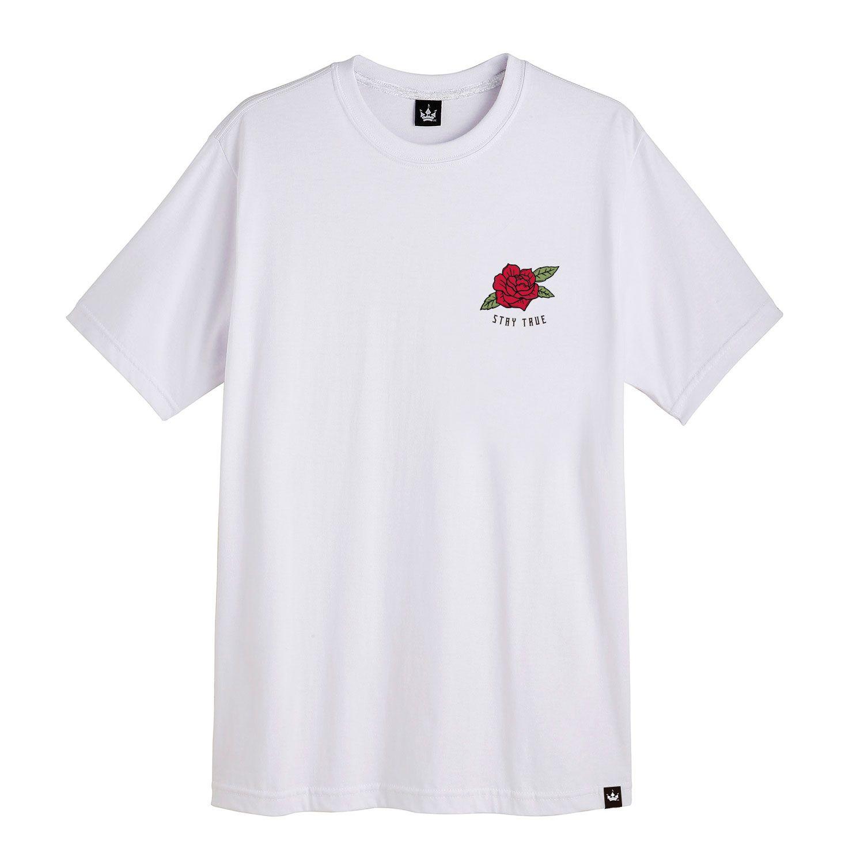 Camiseta Masculina Hoshwear Stay True Branca