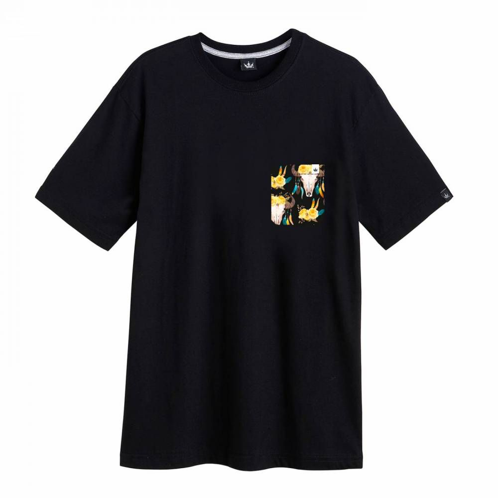 Camiseta Hoshwear Pocket Horn Preta