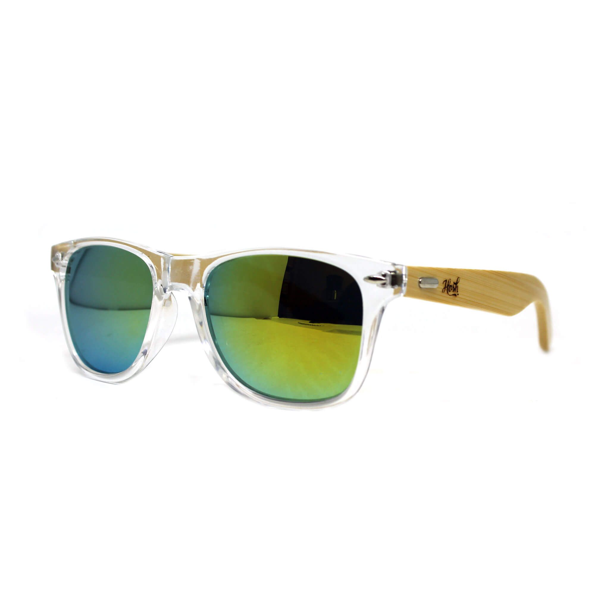 Óculos De Sol Hoshwear Bamboo Supa Clear