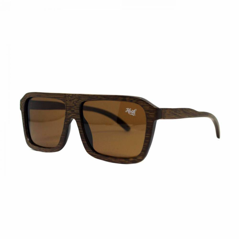 Óculos De Sol Hoshwear Wood Squared Brown