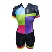 Macaquinho ciclismo feminino Be Fast Fashion