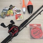 Kit Carretilha Titan Pro BigGame 12000 e Vara Guardian