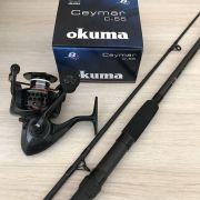 Kit Molinete Okuma Ceymar 55 e Vara Lumis Eclipse 2,70m
