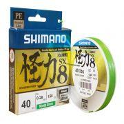 Linha Shimano Kairiki Verde PE 150M - 0,40mm - 50lb