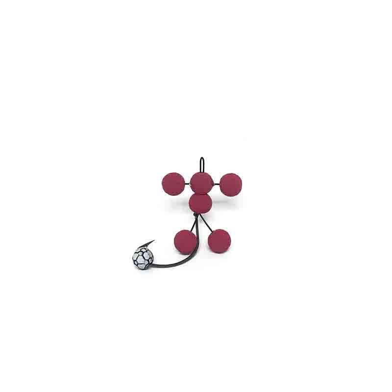 Anteninha JR Carrinho 736 - Vermelho  - Universo da Pesca