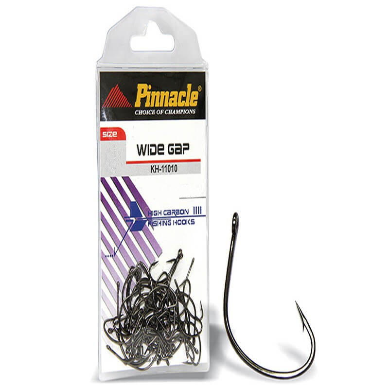 Anzol Pinnacle WideGap -  Nº1/0 10PCS  - Universo da Pesca