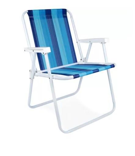 Cadeira de aço alta Mor  - Universo da Pesca
