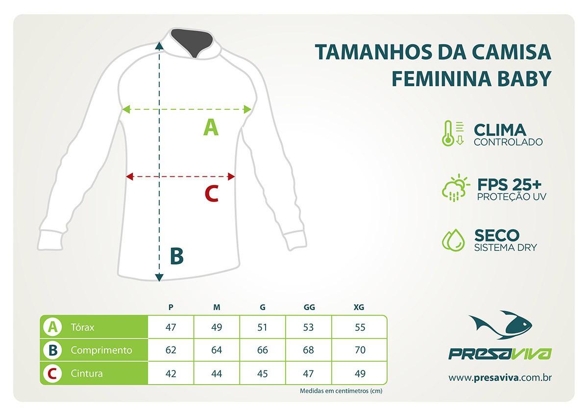 Camisa Exclusiva 01 UP - Feminina  - Universo da Pesca