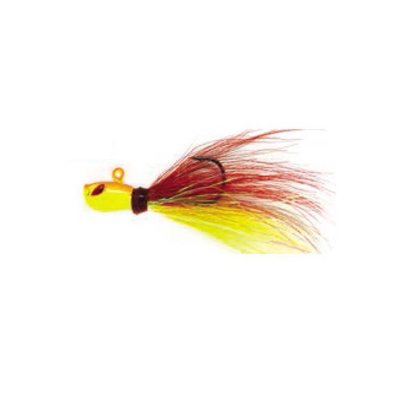Jig Yara Killer 10g - Cor 42 Vermelho e Amarelo  - Universo da Pesca