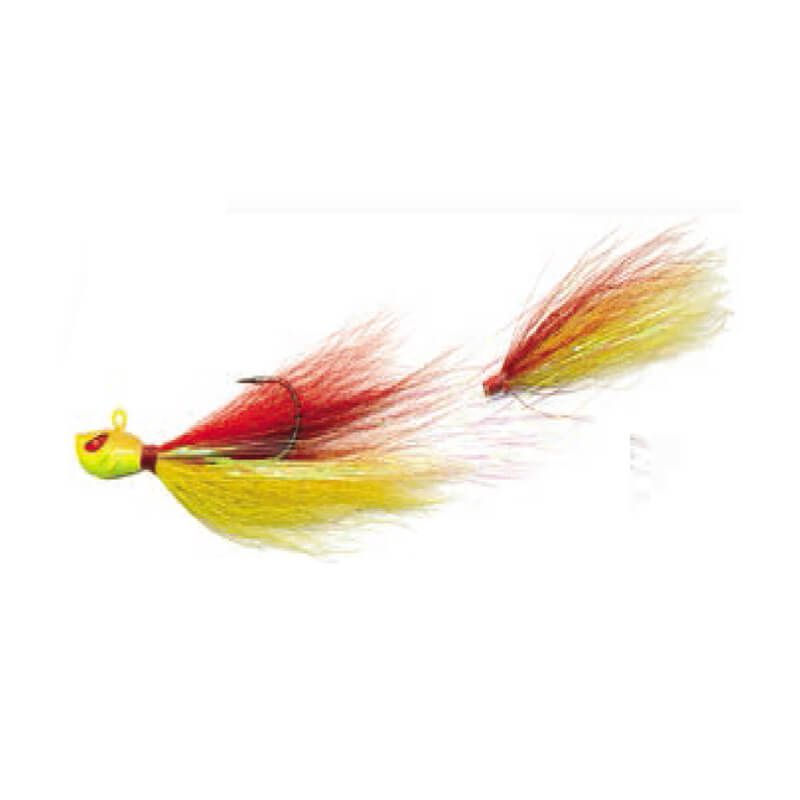 Jig Yara Killer 17g - Cor 42 Vermelho e Amarelo  - Universo da Pesca