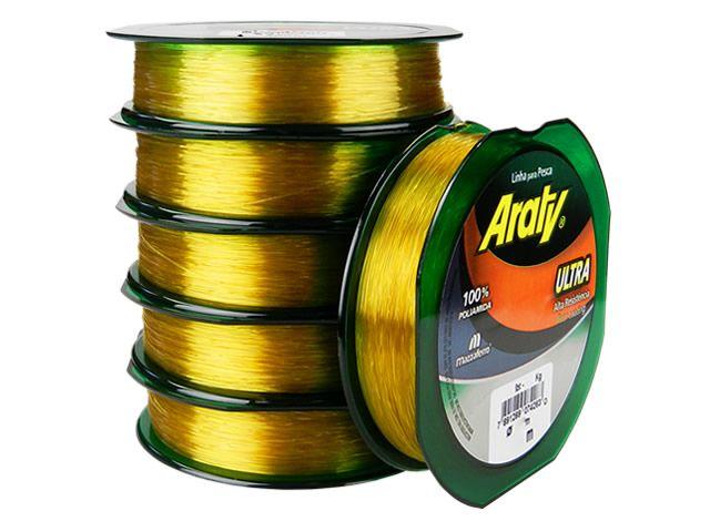Linha Araty Dourado 100M - 0,45mm  - Universo da Pesca