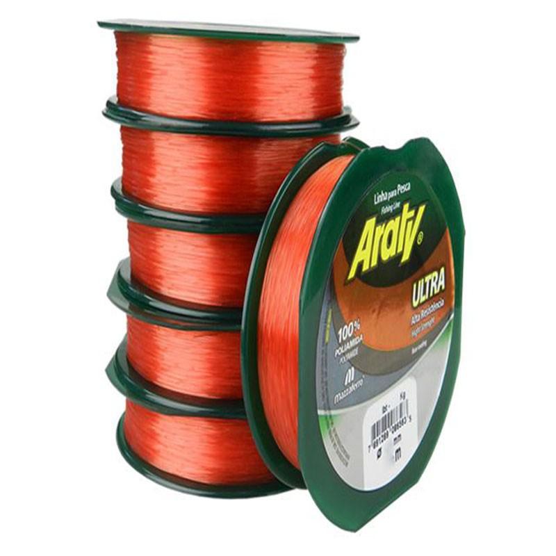 Linha Araty Ultra 300M - 0,40mm - Salmão  - Universo da Pesca