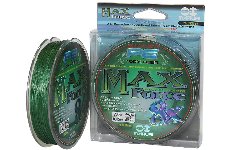 Linha Maruri 8x PE Max 150M  - 8 - 0.50 - 76lbs  - Universo da Pesca