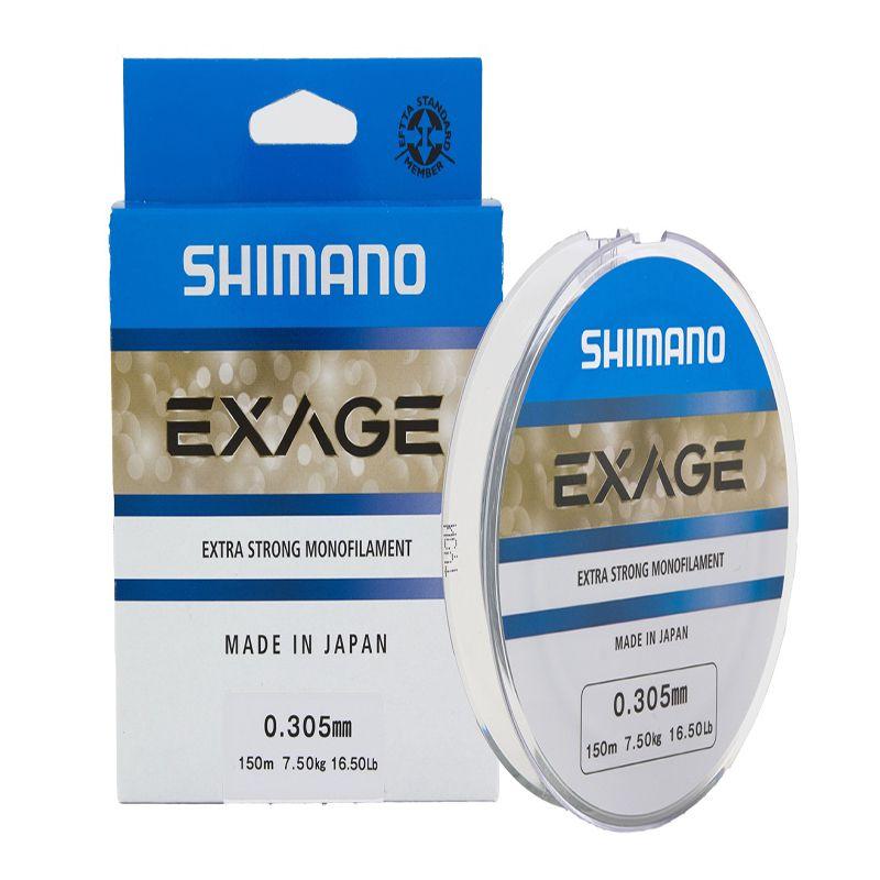 Linha Shimano Exage 300M - 0,30mm - 17  - Universo da Pesca
