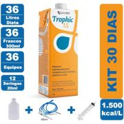 Kit Trophic 1.5 36 Litros - 36 Frascos 300ml - 36 Equipos - 12 Seringas 20ml