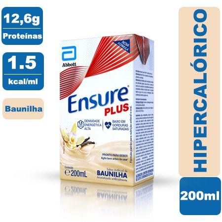 Ensure Plus Baunilha 200ml - Abbott
