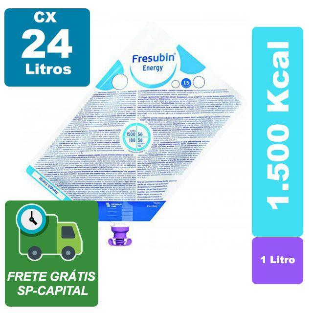 Fresubin Energy 1.5 1000ml Cx 24 Litros - Fresenius