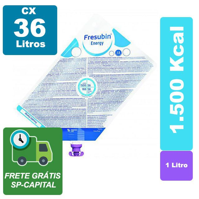 Fresubin Energy 1.5 1000ml Cx 36 Litros - Fresenius