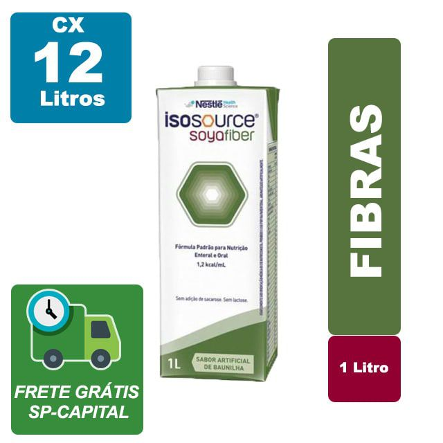 Isosource Soya Fiber Baunilha 1000ml Cx 12 Litros - Nestlé