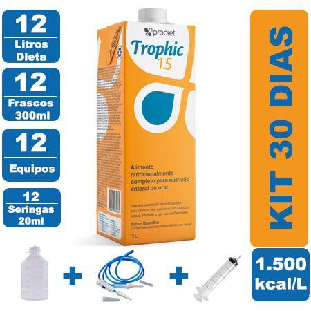 Kit Trophic 1.5 12 Litros - 12 Frascos 300ml - 12 Equipos - 12 Seringas 20ml