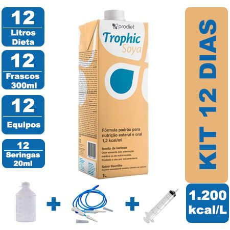 Kit Trophic Soya 12 Litros - 12 Frascos 300ml - 12 Equipos - 12 Seringas 20ml