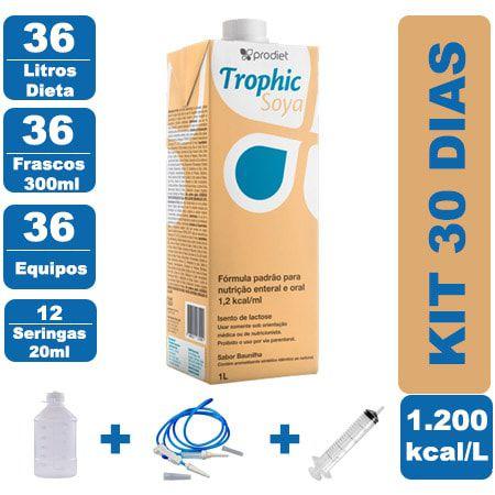 Kit Trophic Soya 36 Litros - 36 Frascos 300ml - 36 Equipos - 12 Seringas 20ml