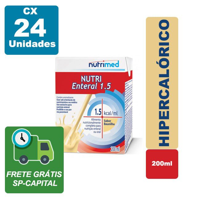Nutri Enteral 1.5 Baunilha 200ml Cx 24 Unidades - Nutrimed
