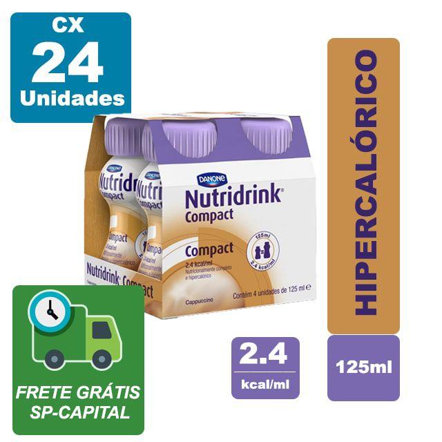 Nutridrink Compact Capuccino 125ml Cx 24 unidades - Danone