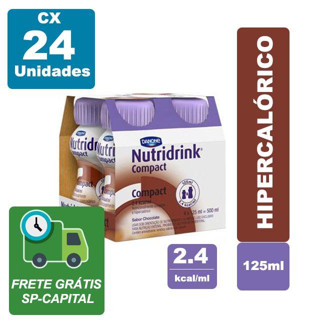 Nutridrink Compact Chocolate 125ml Cx 24 unidades - Danone