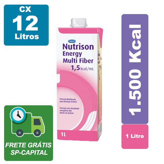 Nutrison Energy Multi Fiber 1.5 1000ml Cx 12 Litros - Danone