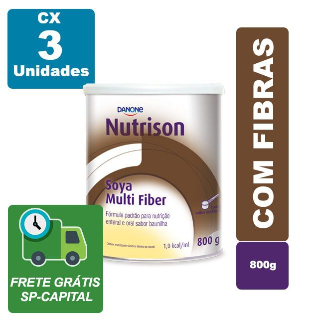 Nutrison Soya Multi Fiber Baunilha 800g Cx 3 Unidades - Danone