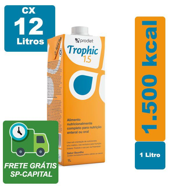 Trophic 1.5 1000ml Cx 12 Litros - Prodiet