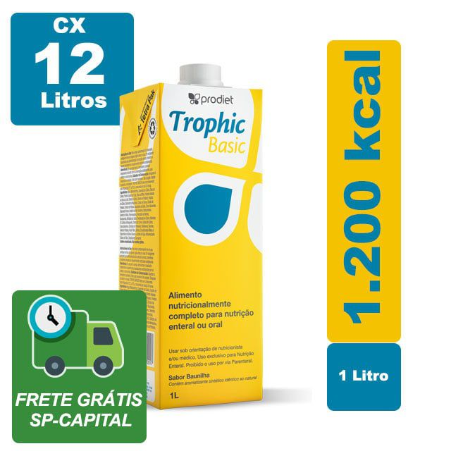 Trophic Basic Baunilha 1000ml Cx 12 Litros - Prodiet