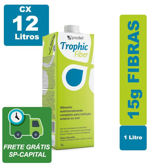 Trophic Fiber Baunilha 1000 ml cx 12 litros - Prodiet