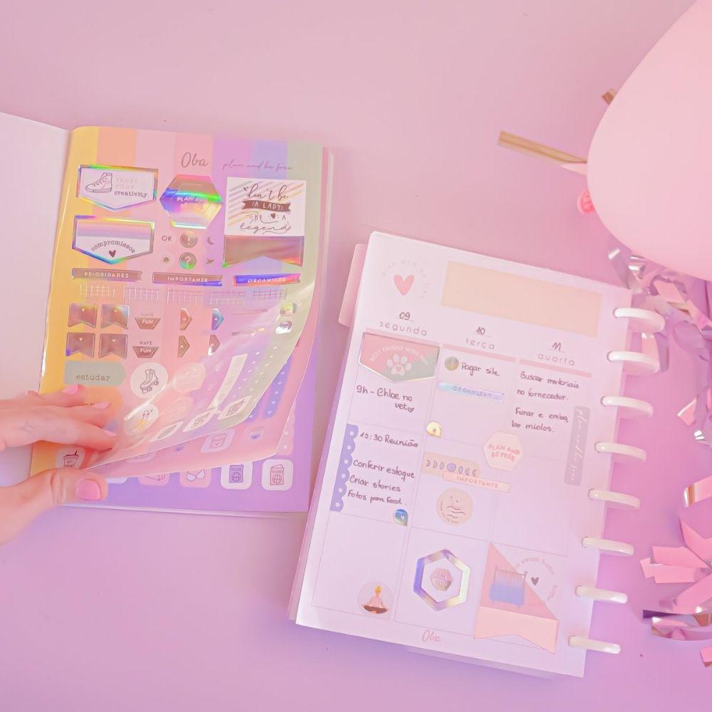Álbum de adesivos oba - Stickers book