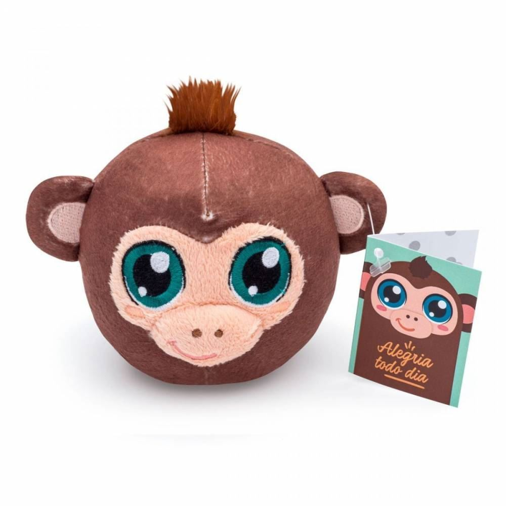 Almofada chaveiro pompets macaco
