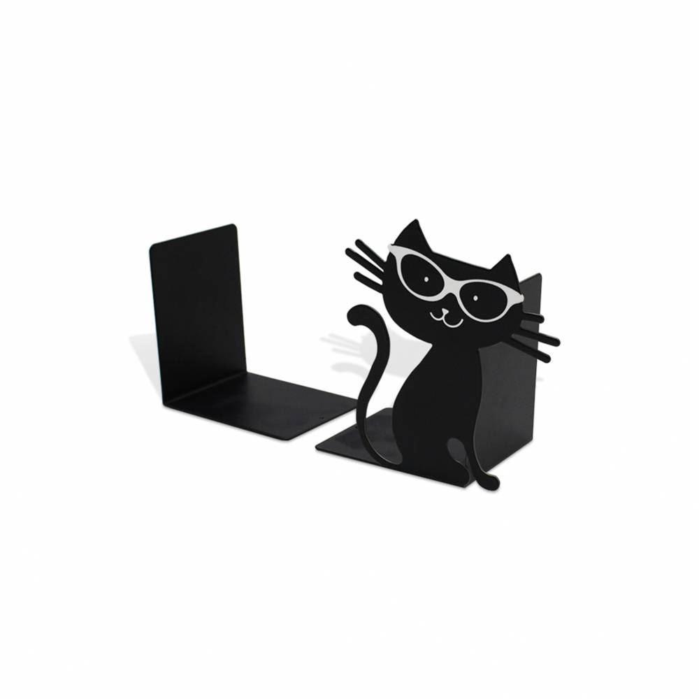 Aparador de livros gato