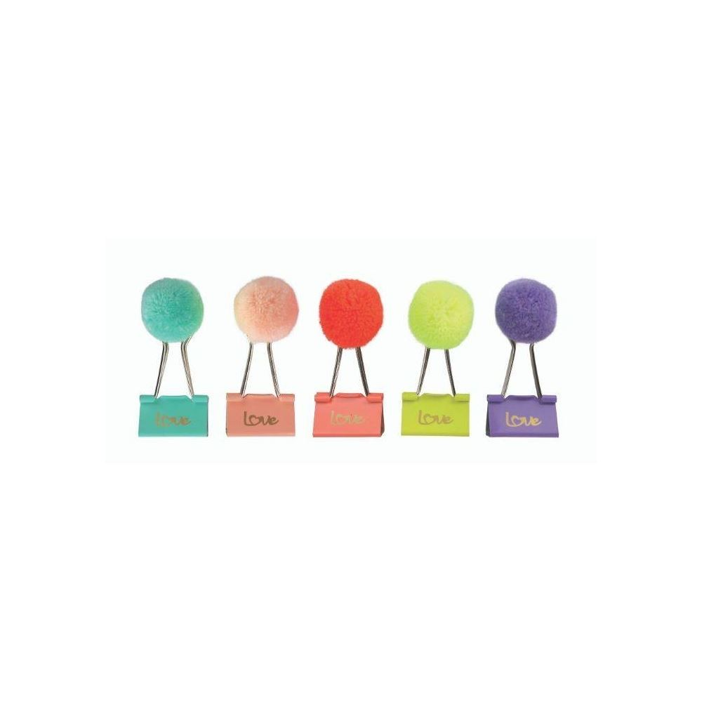 Binder clips love pom pom