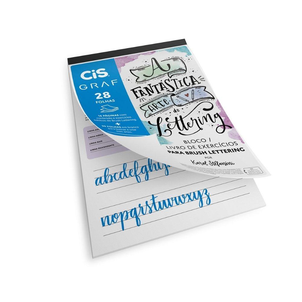 Bloco de lettering com livro de exercícios cis graf - A4