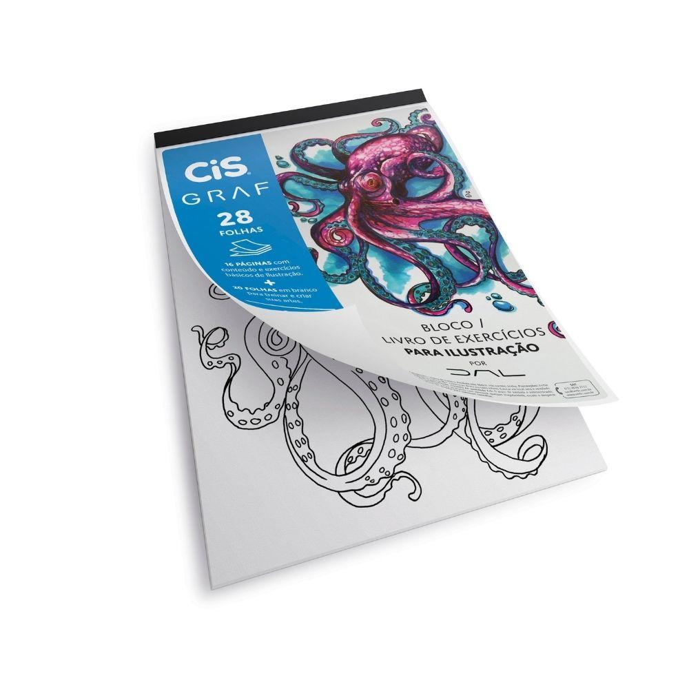 Bloco para ilustração com livro de exercícios cis graf - A4