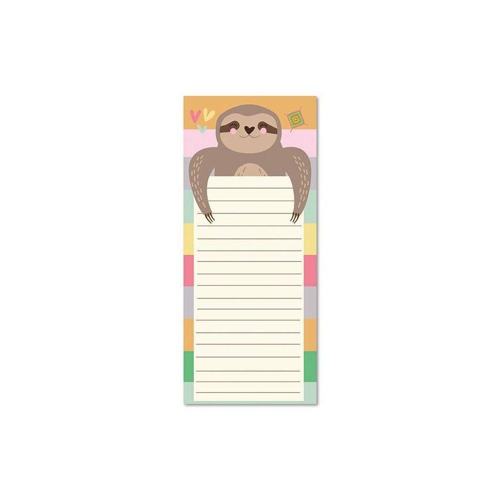Bloco planner diário magnético bicho-preguiça