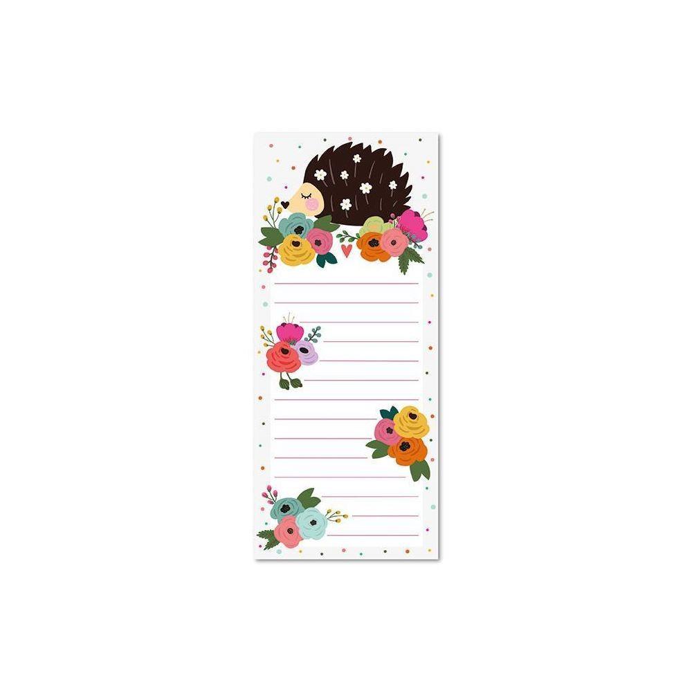 Bloco planner diário magnético floral