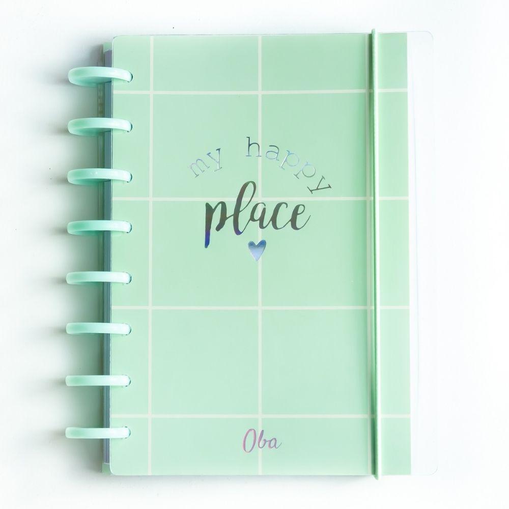 Caderno A5 minimalista verde