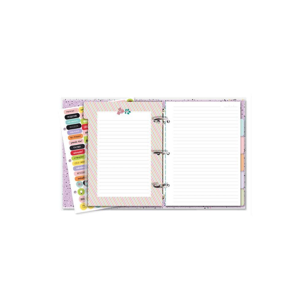 Caderno argolado fichário beija-flor