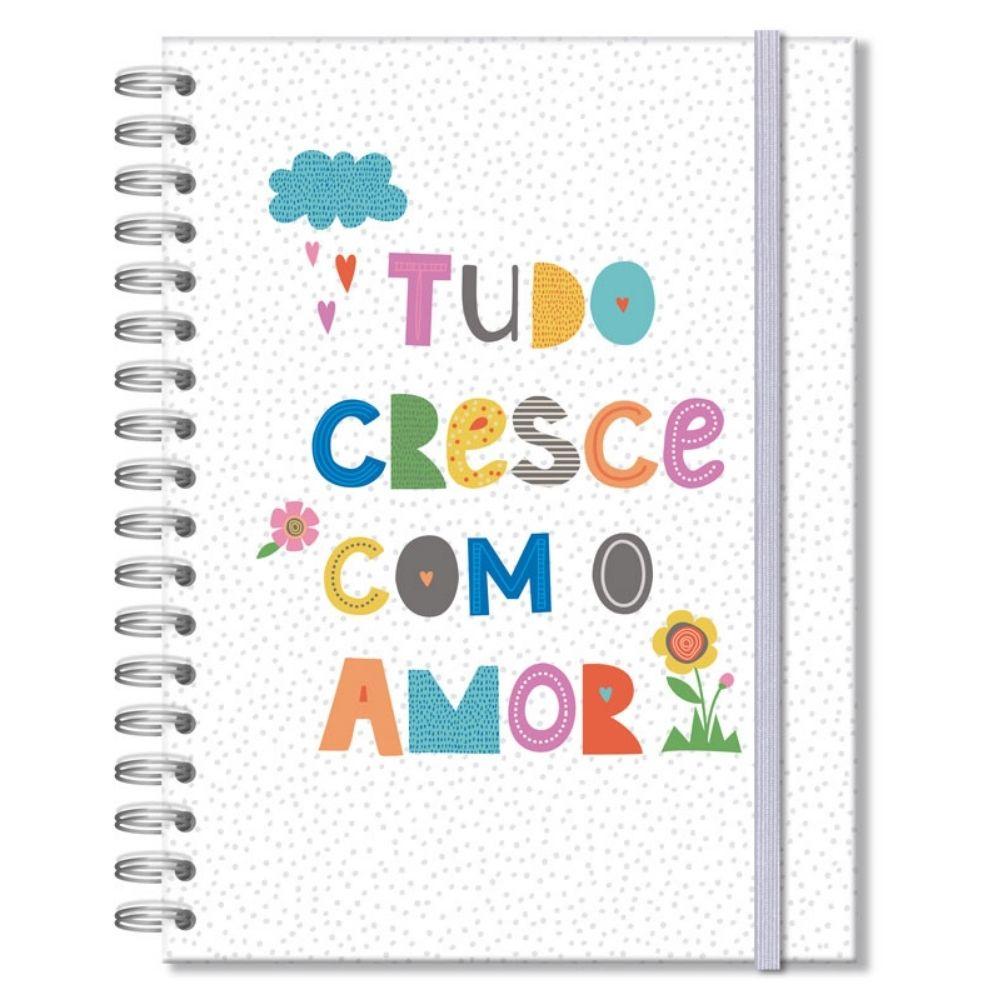 Caderno colegial Frases coloridas - 200 fls