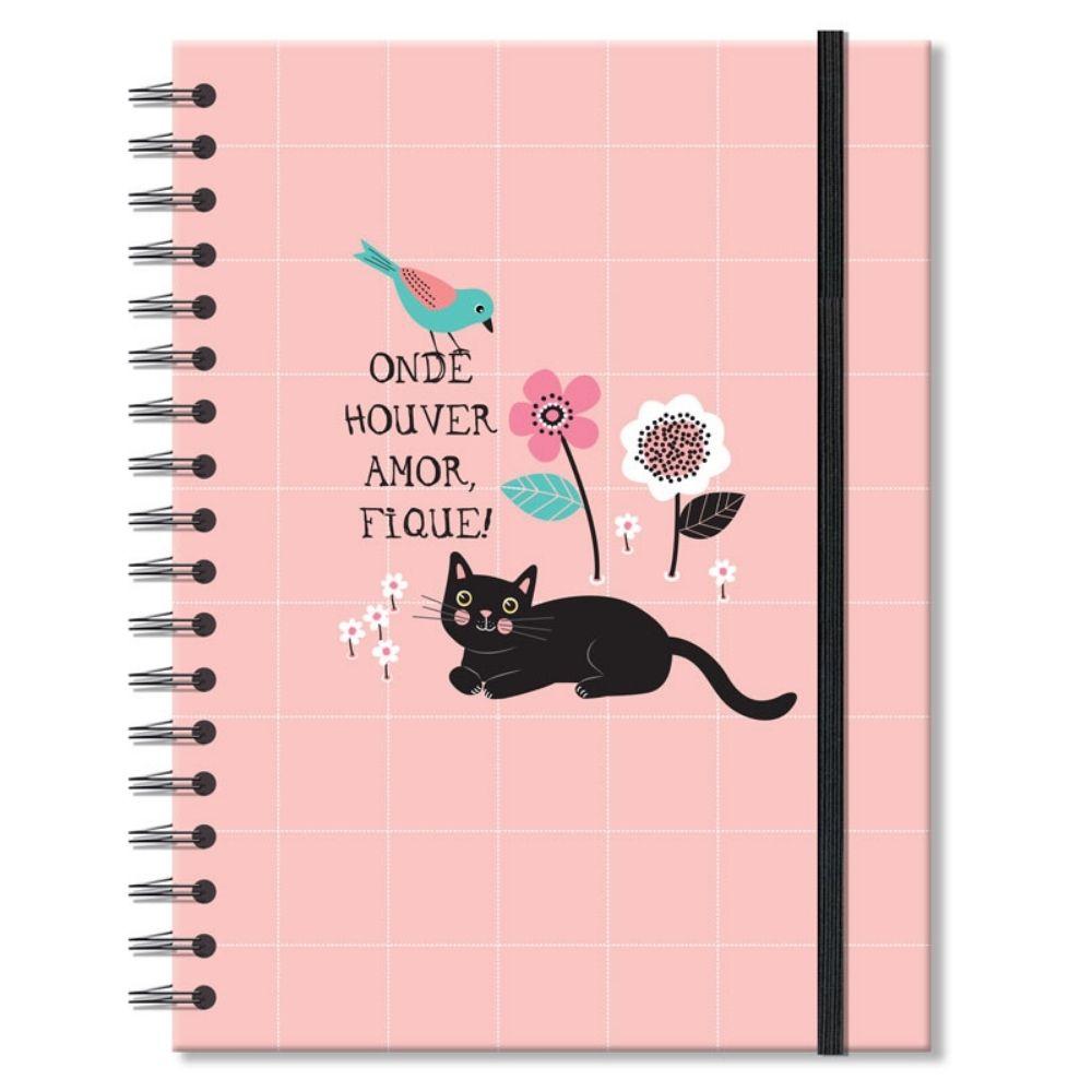 Caderno colegial Gatos - 200 fls